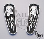 Softail Skull & Flames Lower Inserts