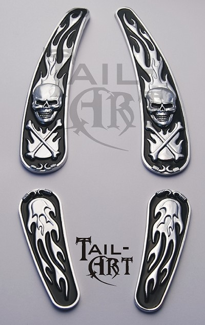 Softail Skull & Flames Complete Set ROCKER & BREAKOUT